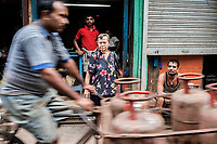 An Anglo Indian lady on Ripon Street. Kolkata. Ripon Street used to be the hub of Anglo Indian Culture.