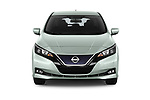 Car photography straight front view of a 2018 Nissan Leaf N Connecta 5 Door Hatchback
