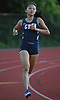 Samantha Law of Great Neck North pulls away from the pack on her way to victory in the girls 3,000 meter race during Day 1 of the Nassau County track & field individual championships and state qualifiers at North Shore High School in Glen Head on Wednesday, May 30, 2018.