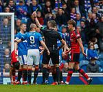 07.04.2018: Rangers v Dundee:<br /> Ross McCrorie booked