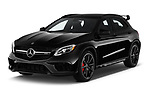 2019 Mercedes Benz GLA AMG 45 5 Door SUV angular front stock photos of front three quarter view