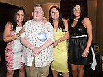 Karl Rooney celebrating his 21st birthday in the Westcourt hotel with aunts Jackie Taaffe, Samantha and Sinead Rooney. Photo:Colin Bell/pressphotos.ie