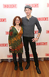 """Lisa Gutkin and aaron Halva attends the """"Indecent"""" Media Day at Playwrights Horizons on March 13, 2017 in New York City."""
