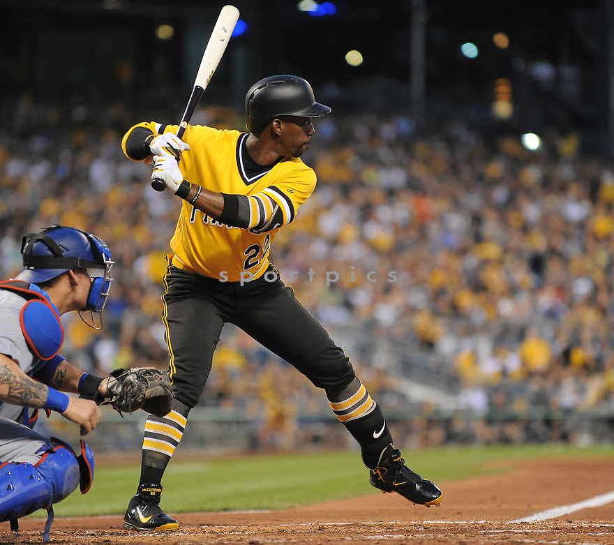 Pittsburgh Pirates Andrew McCutchen (22) during a game against the Los Angeles Dodgers on June 26, 2016 at PNC Park in Pittsburgh, PA. The Dodgers beat the Pirates 4-3.