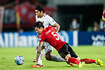 Shanghai FC Forward Givanildo Vieira De Sousa (Hulk) (L) fights for the ball with Guangzhou Defender Zhang Linpeng (R) during the AFC Champions League 2017 Quarter-Finals match between Guangzhou Evergrande (CHN) vs Shanghai SIPG (CHN) at the Tianhe Stadium on 12 September 2017 in Guangzhou, China. Photo by Marcio Rodrigo Machado / Power Sport Images