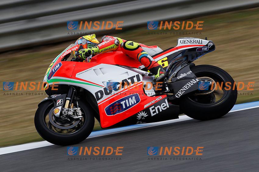 .28-04-2012 Jerez de la Frontera (ESP).Motogp - moto.in the picture: Valentino Rossi - Ducati team .Foto Semedia/Insidefoto