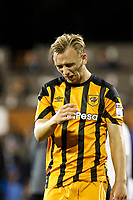 Jarrod Bowen of Hull City is unhappy at the final whistle during the Sky Bet Championship match between Fulham and Hull City at Craven Cottage, London, England on 13 September 2017. Photo by Carlton Myrie.