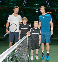 12-02-14, Netherlands,Rotterdam,Ahoy, ABNAMROWTT,Edouard Roger-Vasselin(FRA) and Andy Murray(GRB)<br /> Photo:Tennisimages/Henk Koster