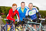 Enjoying the Castleisland Day Care Centre Charity Cycle conjunction with Currow Cycling Club on Sunday were l-r  Niall Fagan, Andreas Weiss and Jerry Fagan