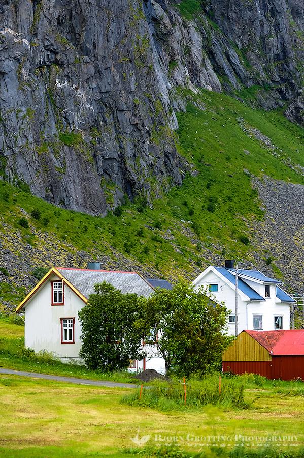 Norway, Lofoten. Eggum is located on the north side of Vestvågøya.
