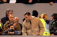 Calcio, Serie A:  Roma vs Palermo. Roma, stadio Olimpico, 21 febbraio 2016. <br /> Roma&rsquo;s Francesco Totti arrives on the stand for the Italian Serie A football match between Roma and Palermo at Rome's Olympic stadium, 21 February 2016.<br /> UPDATE IMAGES PRESS/Riccardo De Luca