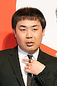 Japanese comedian Nozomu Iwao attends a news conference to announce the Japanese telecommunications giant SoftBank's 2017 spring promotions on January 2017, Tokyo, Japan. SoftBank launched a new Super Student mobile plan for young users, and also announced discounts available to their customers through retail partners such as FamilyMart, Sunkus, Baskin Robbins, and Yahoo Japan Shopping. Canadian pop star Justin Bieber, who features in SoftBank's new promotion campaign sent a video message which was screened during the conference. In Japan spring is the season where students start a new school year and graduates begin work. (Photo by Rodrigo Reyes Marin/AFLO)