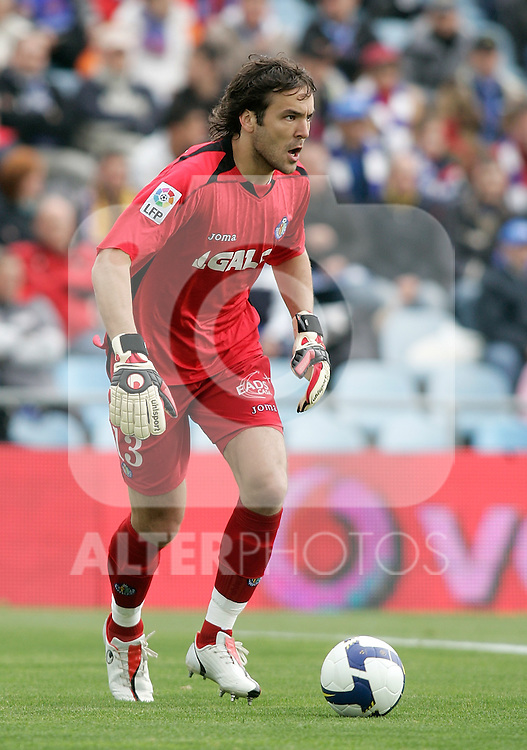 Getafe's Vladimir Stojkovic during La Liga match, April 26, 2009. (ALTERPHOTOS/Alvaro Hernandez).