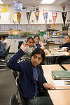 Union City CA 8th grade student raising a question in English class