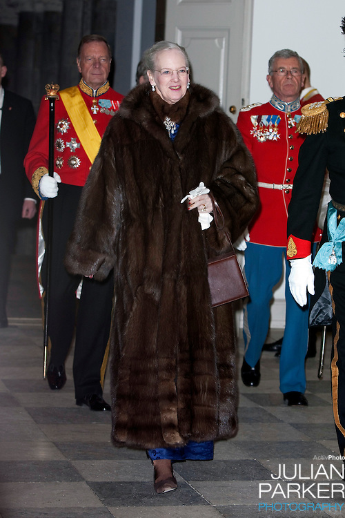 Queen Margrethe of Denmark attends the New Year Court for diplomats at Christiansborg Palace, in Copenhagen, Denmark.
