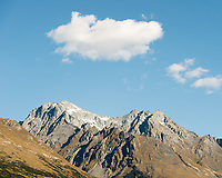 Mount Larkins 2300m of Richardson Mountains near Glenorchy, Mount Aspiring National Park, Central Otago, New Zealand, NZ
