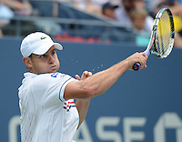 FLUSHING NY- SEPTEMBER 2: Andy Roddick Vs Fabio Fognini on Arthur Ashe stadium at the USTA Billie Jean King National Tennis Center on September 2, 2012 in in Flushing Queens. Credit: mpi04/MediaPunch Inc. ***NO NY NEWSPAPERS*** /NortePhoto.com<br />