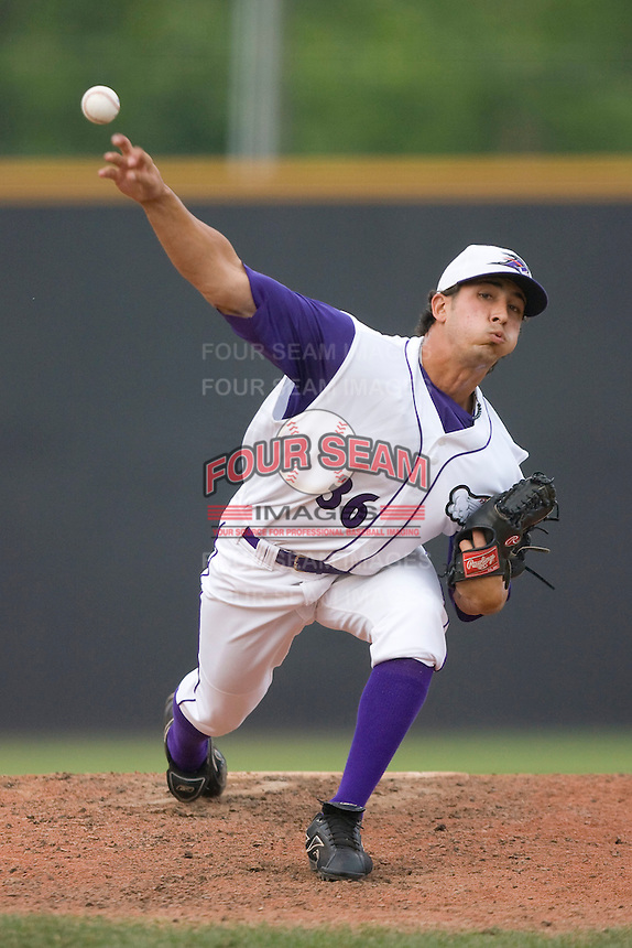 Relief pitcher Miguel Socolovich #36 of the Winston-Salem Dash in action versus the Wilmington Blue Rocks at Wake Forest Baseball Stadium June 14, 2009 in Winston-Salem, North Carolina. (Photo by Brian Westerholt / Four Seam Images)