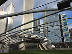 Chicago, Illinois, United States of America / USA; December 27, 2016 -- Jay Pritzker (Music) Pavilion, designed by Frank Gehry, at Millennium Park, with Great Lawn and a trellis network to support the sound system -- Photo: © HorstWagner.eu