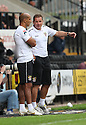 Stevenage manager Graham Westley and assistant manager Dino Maamria<br />  - Stevenage v Leyton Orient - Sky Bet League 1 - Lamex Stadium, Stevenage - 17th August, 2013<br />  © Kevin Coleman 2013