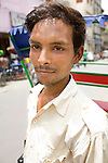 Portrait of a rickshaw driver, Old Delhi