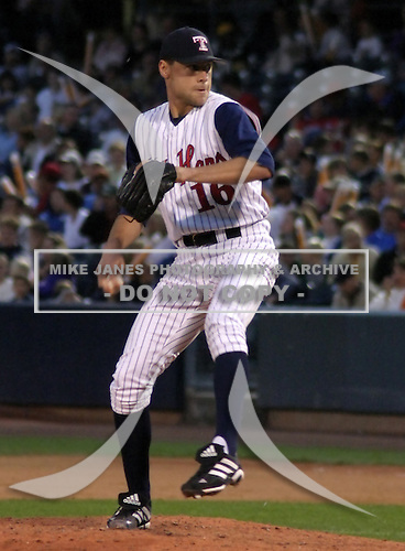 August 31, 2003:  Pitcher Matt Anderson of the Toledo Mudhens, Class-AAA affiliate of the Detroit Tigers, during a International League game at Fifth Third Field in Toledo, OH.  Photo by:  Mike Janes/Four Seam Images