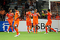 Shimizu S-Pulse team group,JULY 16, 2011 - Football :Shinji Ono (2nd R) of Shimizu S-Pulse celebrates with his teammates after scoring their fitst goal during the 2011 J.League Division 1 match between Shimizu S-Pulse 2-1 Albirex Niigata at OUTSOURCING Stadium Nihondaira in Shizuoka, Japan. (Photo by AFLO)