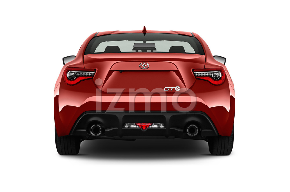 Straight rear view of a 2017 Toyota GT86 Sport 2 Door Coupe stock images