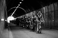 peloton in a tunnel<br /> <br /> Stage 13: Bourg d'Oisans &gt; Valence (169km)<br /> <br /> 105th Tour de France 2018<br /> &copy;kramon