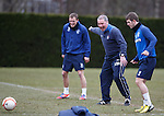 Ally McCoist laughing at Dean Shiels and David Templeton