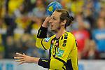 Rhein Neckar Loewe Kim Ekdahl Du Rietz (Nr.60) mit dem Ball beim Spiel in der Handball Bundesliga, Rhein Neckar Loewen - HSG Wetzlar.<br /> <br /> Foto &copy; PIX-Sportfotos *** Foto ist honorarpflichtig! *** Auf Anfrage in hoeherer Qualitaet/Aufloesung. Belegexemplar erbeten. Veroeffentlichung ausschliesslich fuer journalistisch-publizistische Zwecke. For editorial use only.