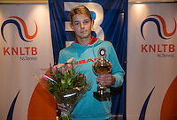 Hilversum, Netherlands, December 4, 2016, Winter Youth Circuit Masters, 2 nd place boys 16 years Niels Visker <br /> Photo: Tennisimages/Henk Koster