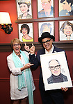 Patti LuPone and David Yazbek during the Sardi's Portrait unveiling for The Band's Visit composer-lyricist David Yazbek at Sardi's on June 7, 2018 in New York City.