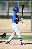 Los Angeles Dodgers minor league infielder Darnell Sweeney #7 during an instructional league game against the Chicago White Sox at the Camelback Training Complex on October 9, 2012 in Glendale, Arizona. (Mike Janes/Four Seam Images)