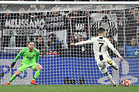 Cristiano Ronaldo of Juventus scores the goal of 3-0 on penalty during the Uefa Champions League 2018/2019 round of 16 second leg football match between Juventus and Atletico Madrid at Juventus stadium, Turin, March, 12, 2019 <br />  Foto Andrea Staccioli / Insidefoto