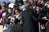 Attendees take photographs of President Francois Hollande of France during an arrival ceremony on the South Lawn of the White House in Washington, D.C., U.S., on Tuesday, Feb. 11, 2014. <br /> Credit: Andrew Harrer / Pool via CNP
