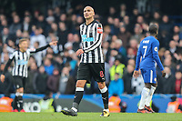 Jonjo Shelvey of Newcastle United during the Premier League match between Chelsea and Newcastle United at Stamford Bridge, London, England on 2 December 2017. Photo by David Horn.