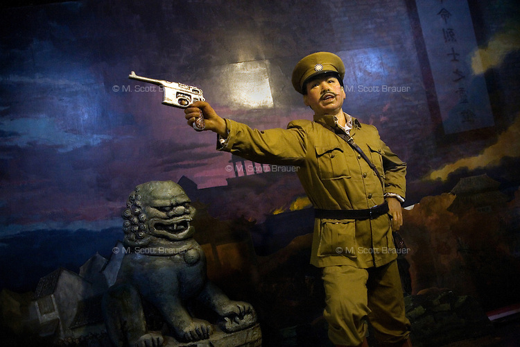 A diorama in the Beamless Hall in Nanjing, Jiangsu, China, depicts soldiers fighting in the War of Northern Expedition, a nationalist uprising that preceded the eventual founding of the modern People's Republic of China.