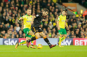 31st October 2017, Carrow Road, Norwich, England; EFL Championship football, Norwich City versus Wolverhampton Wanderers; Wolverhampton Wanderers forward Leo Bonatini battles with Norwich City midfielder Tom Trybull