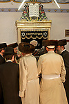 Israel, Jerusalem. Hassidic Jews at a Synagogue in the Me?a She?arim quarter, 2005<br />