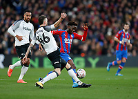 5th January 2020; Selhurst Park, London, England; English FA Cup Football, Crystal Palace versus Derby County; Brandon Pierrick of Crystal Palace being challenged by Scott Malone of Derby County - Strictly Editorial Use Only. No use with unauthorized audio, video, data, fixture lists, club/league logos or 'live' services. Online in-match use limited to 120 images, no video emulation. No use in betting, games or single club/league/player publications