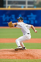 22 August 2007: #17 Shota Oba pitches against France during the Japan 9-4 victory over France in the Good Luck Beijing International baseball tournament (olympic test event) at west Beijng's Wukesong Baseball Field in Beijing, China.