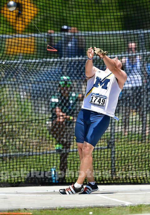 The University of Michigan men's track and field team compete in the NCAA Regionals in Jacksonville, Fla, on May 26-28, 2016.