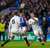 10th February 2019, Twickenham Stadium, London, England; Guinness Six Nations Rugby, England versus France; Chris Ashton of England looks to catch the loose ball