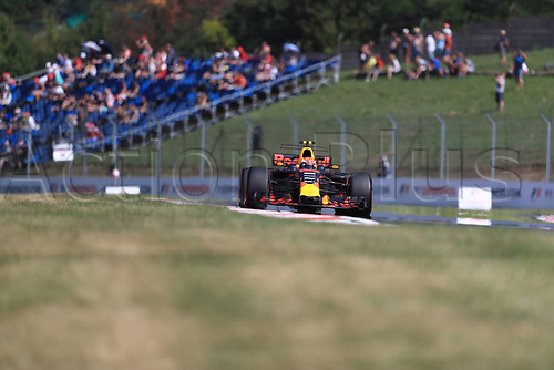 July 27th 2017, Hungaroring, Mogyoród, Hungary; Formula One Grand Prix of Hungary, free practise sessions; Max Verstappen - Red Bull Racing RB13