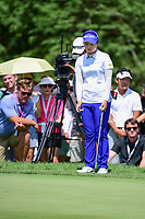 Hye-Jin Choi (a)(KOR) looks over her birdie putt on 1 during Sunday's final round of the 72nd U.S. Women's Open Championship, at Trump National Golf Club, Bedminster, New Jersey. 7/16/2017.<br /> Picture: Golffile | Ken Murray<br /> <br /> <br /> All photo usage must carry mandatory copyright credit (&copy; Golffile | Ken Murray)