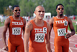 May 18, 2008 - Boulder, CO. Texas dominates the Men's 800m at the 2008 Big 12 Conference Track & Field Championships.  ...Larry Clouse/CSM