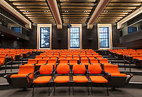 Seats in Choi Auditorium in Johnson Hall, Sept. 25, 2013. (Photo by Marc Campos, Occidental College Photographer)