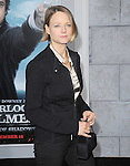 Jodie Foster at The Warner Bros. Pictures World Premiere of SHERLOCK HOLMES 2: A GAME OF SHADOWS held at The Village Theatre in Brentwood, California on December 06,2011                                                                               © 2011 Hollywood Press Agency