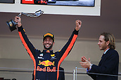 May 28th 2017, Monaco; F1 Grand Prix of Monaco Race Day;  Daniel Ricciardo - Red Bull Racing takes the 3rd placed trophy